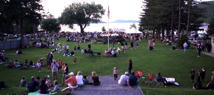 Concert at Lakefront Park Cooperstown NY