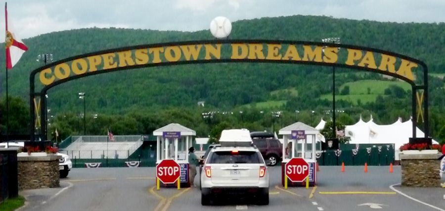 Image of Cooperstown Dreams Park entrance