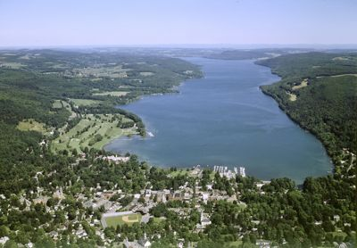 Cooperstown NY aerial photo