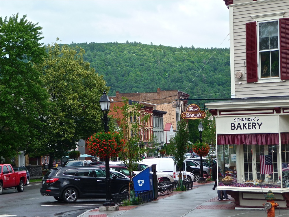 Turning onto quaint Main Street in Cooperstown, New York